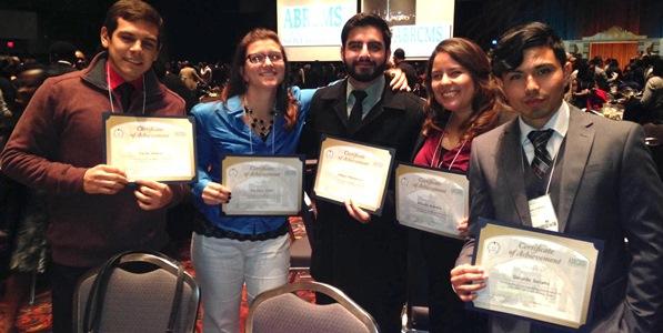 Group picture of Carlos Alvarez, Katrina Cable, Babgen Manookian, Amanda Brambilia and Gerardo Soriano