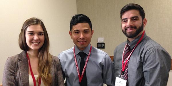 Group photo of MARC Scholars Alexis Romero, Gerardo Soriano and Babgen Manookian