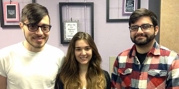 MARC Scholars Carlos Nowotny, Alexis Romero, and Babgen Manookian
